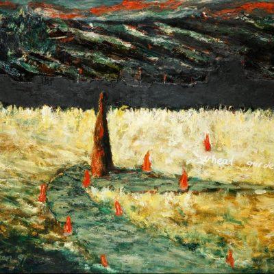 İrfan Okan, Wheat Garden, 1991, Oil on canvas, 115x146 cm.
