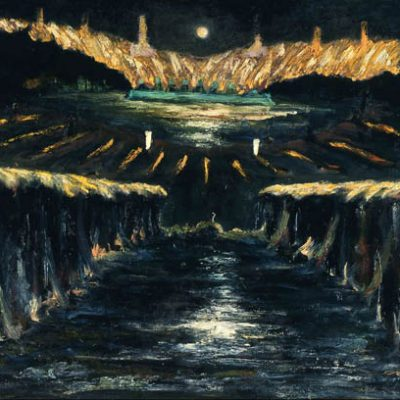 İrfan Okan, 1992, Tuval üzerine yağlıboya, 115x160 cm.