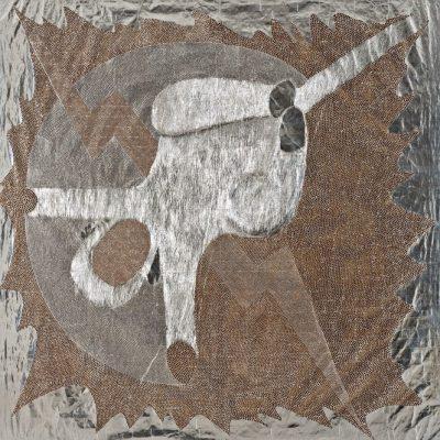 Güçlü Öztekin, Love has no hands but big bells, Mixed media on craft paper, 209x203 cm.