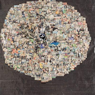 Güçlü Öztekin, Internet, 2006, Mixed media on craft paper, 195x172 cm.