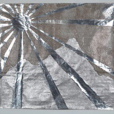 Güçlü Öztekin, Current, 2009, Mixed media on craft paper, 157x176 cm.