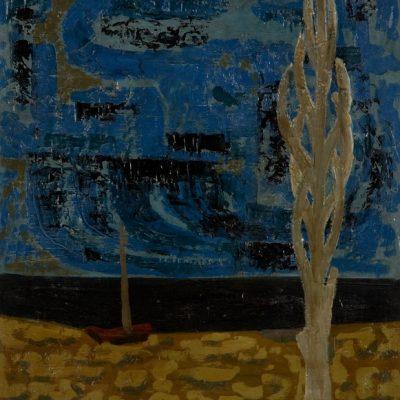 Abdurrahman Öztoprak, 1950, Oil on canvas, 56x50 cm.