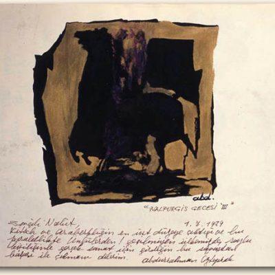 Abdurrahman Öztoprak, 1979, Oil on canvas, 15x10 cm.