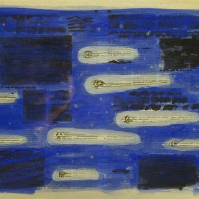 Nusret Pasic, Aquarelle on paper, 39x55 cm.