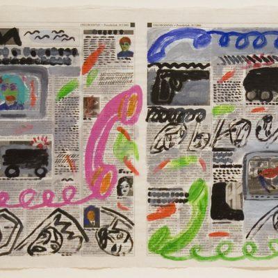 Nusret Pasic, Aquarelle on paper, 39x54 cm.