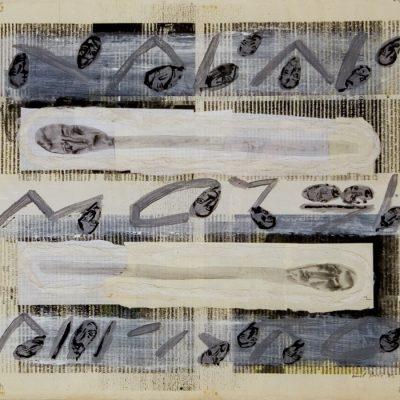 Nusret Pasic, 1999, Kağıt üzerine karışık teknik, 50x68 cm.