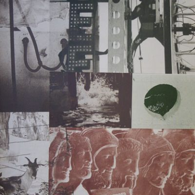 Robert Rauschenberg, American pewter with Burroughs II, 1981, Print (35/42 edition), 78x59 cm.