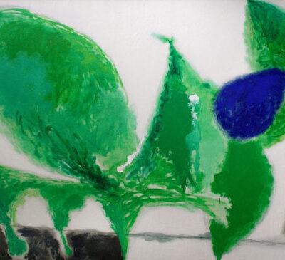 Altay Sadıkzade, Green personage, 1990, Oil on canvas, 130x195 cm.