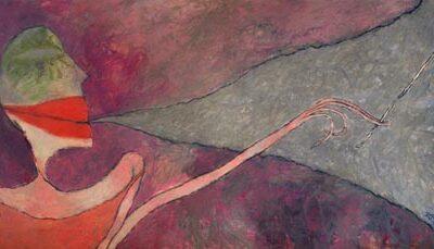 Altay Sadıkzade, Smoker, 2005, Oil on canvas,130x170 cm.