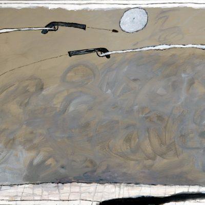 Altay Sadıkzade, Uçan obje, 2007, Oil on canvas, 105x140 cm.