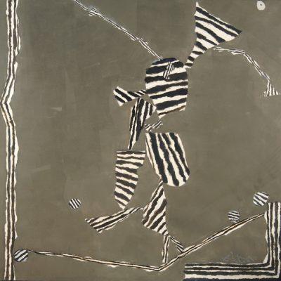 Altay Sadıkzade, Tuval üzerine yağlıboya ve karışık teknik, 150x150 cm.