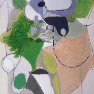 Altay Sadıkzade, Figure in a space, 1982, Tuval üzerine yağlıboya, 120x100 cm.