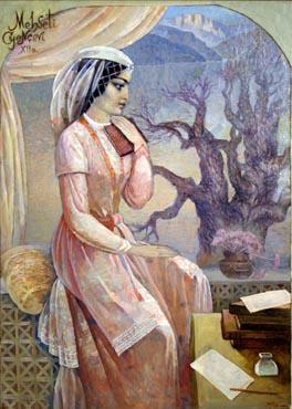 Elmira Sahtahtinskaya, 1990, Oil on canvas, 100x71 cm.