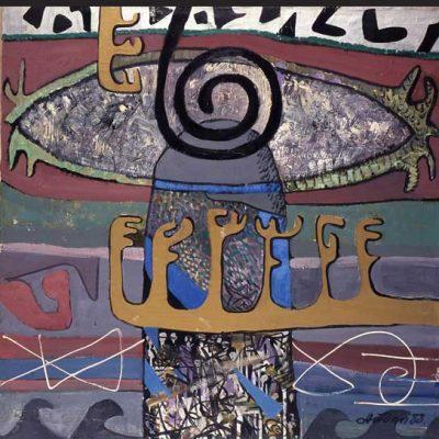 Aidan Salakhova, 1988, Oil on canvas, 120x120 cm.