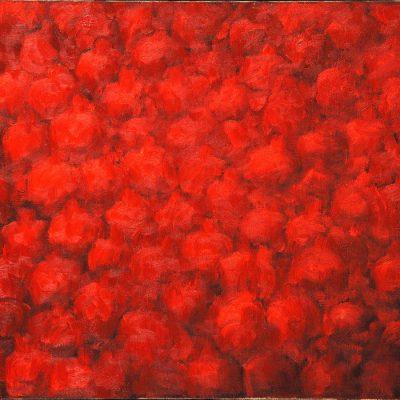 Sabina Shikhlinskaya, The Red, 2008, Oil on canvas, 60x80 cm.