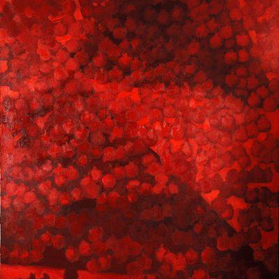 Sabina Shikhlinskaya, Pomegranates, 2006-2008, Oil on canvas, 195x180 cm.