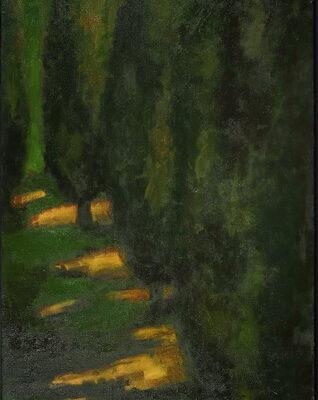 Sabina Shikhlinskaya, Landscape, 2008, Oil on canvas, 185x82 cm.