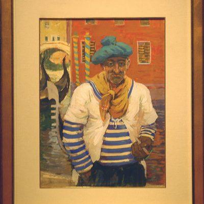 Igor Soldatenkov, 1963, Oil on cardboard, 70x50 cm.