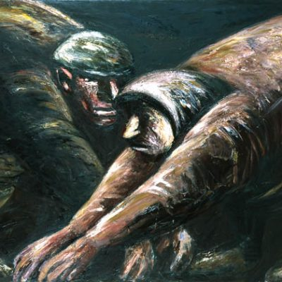 Lev Tabenkin, 1991, Oil on canvas, 150x200 cm.
