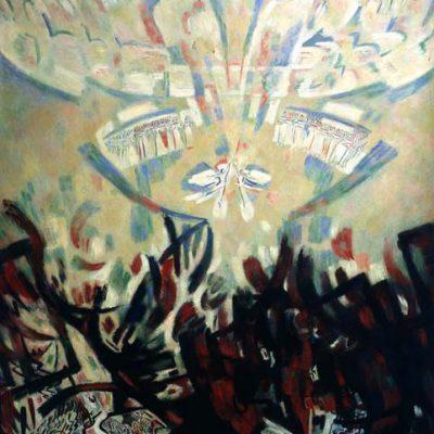 Leonid Tkachenko, 1995, Oil on canvas, 206x182 cm.