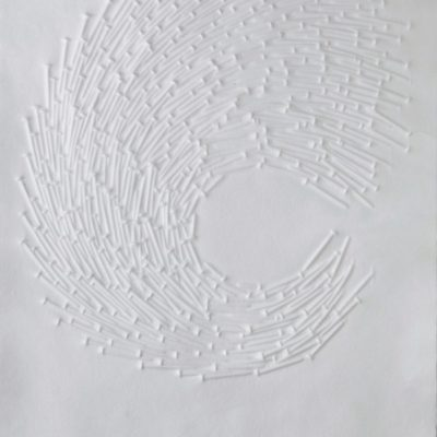 Günther Uecker, 2009, Mixed media on paper, 50x70 cm.