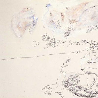 Burhan Uygur, 1991, Pastel on paper, 21x25 cm.