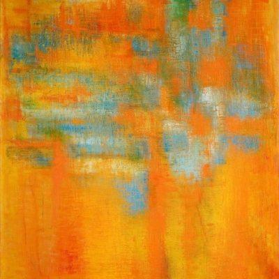 Fahrelnissa Zeid, London series, 1959, Oil on canvas, 130x190 cm.