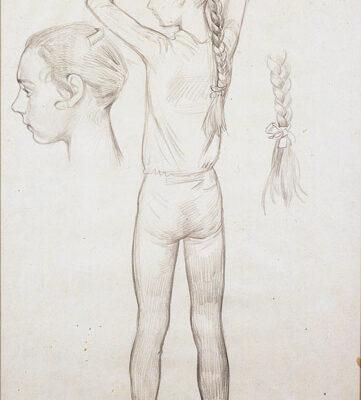 Dmitri Zhilinski, 1973, Charcoal on paper, 60x40 cm.