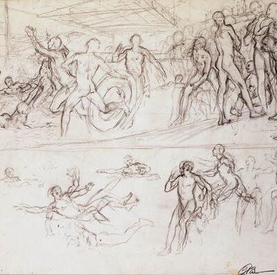 Dmitri Zhilinski, 1962, Charcoal on paper, 42x60 cm.