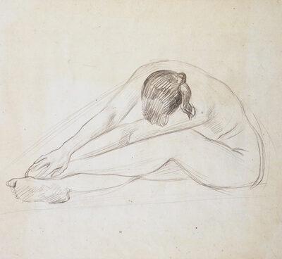 Dmitri Zhilinski, 1972, Charcoal on paper, 43x62 cm.